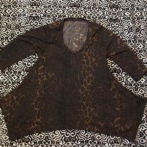 Animal print asymmetrical tunic